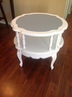 1970 colonial style two tiered end table by OliviaVintageCloset, $85.00