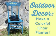 Need to spruce up your porch or patio? Learn how to make a chair planter from a thrifted or found chair.