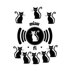 miau miau wifi - Cats Love - T-Shirt | TeePublic Wifi, Illustrator, Love, T Shirt, Character, Art, Tee, Amor, Illustrators