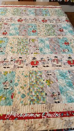 """""""All Bundled Up"""" Snowman quilt made by Joyce. Longarm quilting by Le Ann Weaver of www.persimmonquilts.com"""