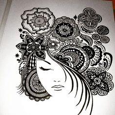 Doodle Art Drawing, Zentangle Drawings, Mandala Drawing, Zentangles, Mandala Art Lesson, Mandala Artwork, Art Drawings Sketches Simple, Pencil Art Drawings, Doodle Art Designs