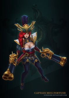 Here's a skin that i got to work on for the bilgewater event! was a blast working on this with the team and especially for provid. Captain Miss Fortune Game Character, Character Design, Character Reference, League Of Legends, Miss Fortune, Pirate Woman, Corpse Bride, Comic Art, Pirates