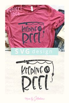 This fishing svg files featuring a saying Keeping it Reel would make a great t-s - Monogram Fishing Shirt - Ideas of Monogram Fishing Shirt - This fishing svg files featuring a saying Keeping it Reel would make a great t-shirt for the fishing fan. Free Font Design, Design Logo, Fishing Humor, Fishing Shirts, Fishing Stuff, Fishing Outfits, Vinyl Crafts, Vinyl Projects, Dad Crafts