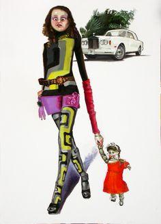 Divina proportione - Stefania Massaccesi olio su tela Opera, Wonder Woman, Superhero, Fictional Characters, Women, Art, Art Background, Opera House, Kunst