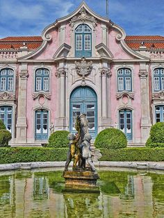Fountain and Façade Queluz National Palace   Flickr - Photo Sharing!