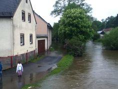 Regnitzlosau Regnitzbrücke am Jugendheim.