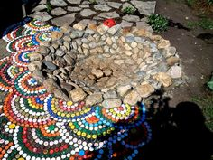 «Крышечные» мозаики для дачи - 6 соток