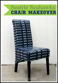 A Seattle Seahawks chair make over with NFL Duck Tape. 8bd5ca3c7