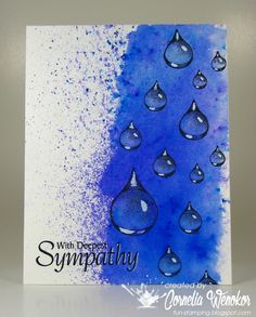 Stempel Spass: Waterdrops with Tutorial