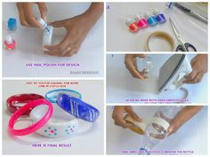 Bracelets from recycling plastic bottles