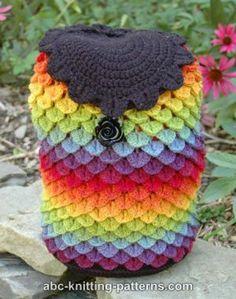 Rainbow Dragon Crocheted Backpack Bag
