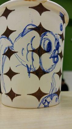 Art on Cups, bardakta çizim,  sevimli balık