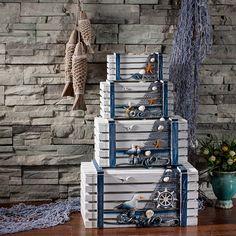 $74 Mediterranean creative home storage box wooden hand-made old storage glove box toy storage-ZZKKO