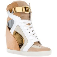 OH YES!!!  CASADEI wedge hi-top sneaker (850 AUD) found on Polyvore