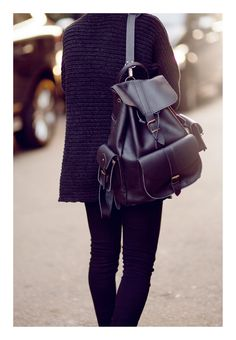 If i could have black leather backpack i could not wear bags to school in the future. Really