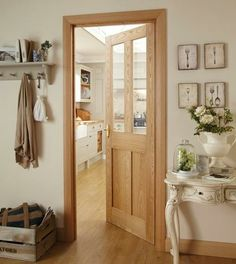 Burford 4 Panel Oak Glazed | Internal Hardwood Doors | Doors & Joinery | Howdens Joinery