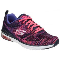 d5653bee2d02 Skech-Air Infinity Wildcard Lace Up Navy Pink. Shoes.co.uk · Skechers  Women s