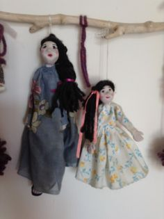 Kumru ile Sultan / hand made by Saide (fimo marionette)
