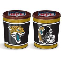 Jacksonville Jaguars Popcorn Tin | Three Gallon Gift Tin with 7 Flavors