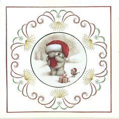 re-cycled Christmas card maar er omheen kan ook voor een andere kaart