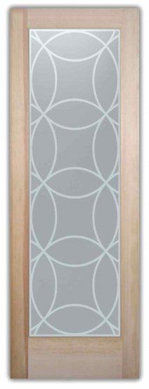 etched glass door for privacy circles overlapped