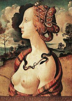 Piero di Cosimo (Italian artist, 1462-1521) Simonetta Vespucci c 1480