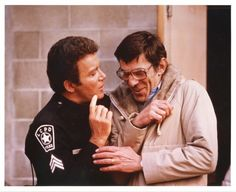 The time TJ Hooker busted Mr. Spock for selling bootleg Star Trek merchandise.