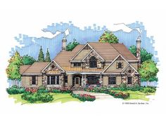 French Country Style 2 story 5 bedrooms(s) House Plan with 3929 total square feet and 4 Full Bathroom(s) from Dream Home Source House Plans