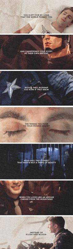 This is so sad, yet so true. Captain is one of the most tragic superheroes ever in my opinion.