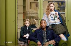 Cara Delevingne & Pharrell Reunite for Chanel Campaign - Chanel Paris - Ideas of Chanel Paris - Cara Delevingne Pharrell Williams and Hudson Kroenig for CHANEL Paris-Salzburg pre-fall 2015 campaign photographed by Karl Lagerfeld Chanel 2015, Chanel News, Chanel Paris, Coco Chanel, Pharrell Williams, Cara Delevingne, Karl Lagerfeld, Fashion Advertising, Advertising Campaign
