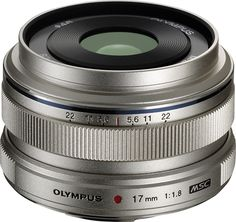 Olympus - M. 17mm f/1.8 Wide-Angle Prime Lens for Select Micro Four-Thirds Interchangeable Lens Cameras - Silver