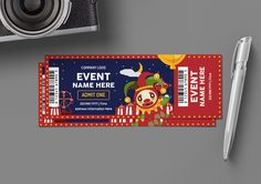 Ticket Template for only $6 | Designs.net Ticket Design, Ticket Template, Sports Day, Web Design, Graphic Design, Create Yourself, Banner, Typography, Clip Art