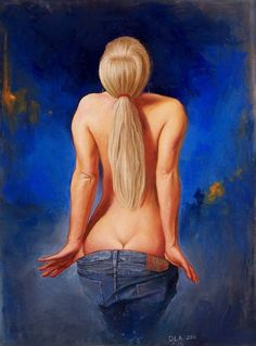 Blue Jean Tease 2 by *dlapastel on deviantART