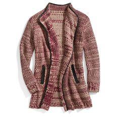 Stitch Fix Item: Leather Trimmed Cardigan #stitchfix