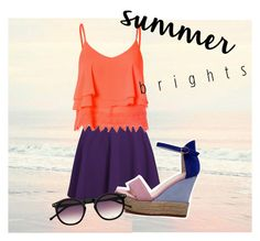 """""""Untitled #28"""" by vikakasyanova ❤ liked on Polyvore featuring Glamorous and summerbrights"""