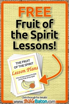 ideas for fruit of the spirit activities for kids memory verse Bible Study Guide, Bible Study For Kids, Bible Lessons For Kids, Memory Verses For Kids, Scripture Memorization, Free Fruit, Fruit Of The Spirit, Sunday School Lessons, Lesson Plans