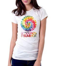 5 Seconds Of Summer Dye - Women - Shirt - Clothing - White, Black, Gray - @Dianov93