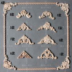 Cheap Dongyang talla de madera apliques de moda inicio puertas y ventanas del…