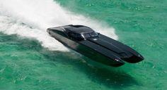Black Corvette Catamaran Offshore Racing Speed Boat