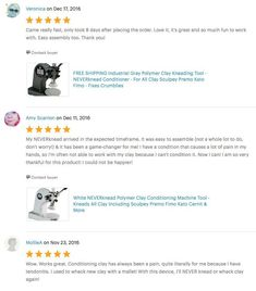 More 5 Star Reviews on Etsy for The NEVERknead Polymer Clay Kneading Machine Tool - get yours at NEVERknead.com today! Polymer Clay Tools, Machine Tools, Spice Things Up, Conditioner, Stars, Etsy, Fimo, Star