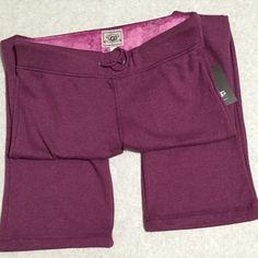 UGG Lounge Pants UGG Soft Fleece Lined Tie Front Lounge Pants. Color ~ wine UGG Pants