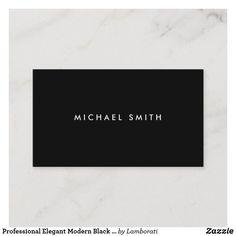 Shop Modern Professional Black White Elegant Sleek Business Card created by art_grande.