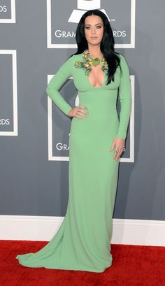 Katy Perry channels Priscilla Presley at the Grammys