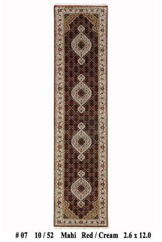 2' 6'' x 12' Black-Ivory Livingroom Decor Wool & Silk Tabriz Runner Rug