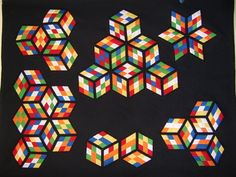 black background quilts - Google Search