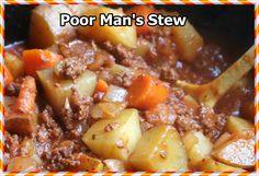 RECIPE GART YUMY: Poor Man's Stew