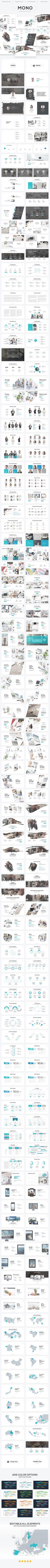 Mono - Minimal Theme - #PowerPoint Templates #Presentation #Templates Download here: https://graphicriver.net/item/mono-minimal-theme/19490631?ref=alena994