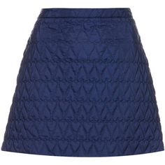 TOPSHOP Quilted Heart A-Line Skirt (65 BRL) ❤ liked on Polyvore featuring skirts, navy blue, a-line skirt, blue a line skirt, blue skirt, zipper skirt and navy a line skirt