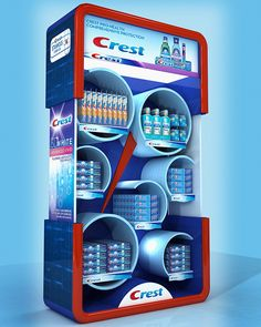 CREST Display Stand 180x100x40 cm by Muhammad Khalil, via Behance