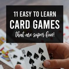 11 Fun + easy cards games for kids and adults! – It's Always Autumn These are the 11 best easy card games that are actually super fun to play! These are perfect for kids and adults, so the whole family with enjoy them. Fun Games For Adults, Fun Water Games, Games To Play With Kids, Card Games For Kids, Games For Boys, Adult Games, Kids Fun, Family Card Games, Family Activities